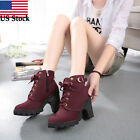 Kyпить Womens Fashion High Heel Lace Up Ankle Boots Ladies Buckle Winter Platform Shoes на еВаy.соm