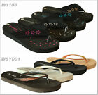 New Womens Summer Comfort Glitter Thong Flat Flip Flops Sandals Slipper Shoe USA