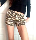 BDG for URBAN OUTFITTERS SUPER CUTE COTTON DISTRESSED FRAYED HEM CAMO SHORTS NEW