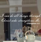 Philippians 4:13 Phip 413 I Can Do All Things Through Christ Decal Vinyl Sticker