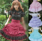 Ladies Sweet Lovely Lolita Princess Skirt S-XXL Red/Pink/Purple/Blou Tailor Made