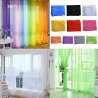 NEW Multi Colors Tulle Voile Door Window Curtain Sheer Valances Room Drape Panel
