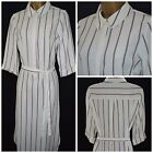 NEW MARKS & SPENCER M&S SHIRT DRESS WHITE BLACK RED STRIPED WORK CASUAL 6 - 22