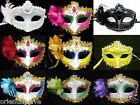 Multicolor Party Queen Venetian Costume Masquerade Feater Flower Masks on Sale