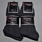 KNOCKER Brand Dress Socks Thin Black Polyester New NIP 12 Pair Pack 9-11/10-13