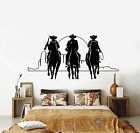 Vinyl Wall Decal Western Cowboys Horses Sunset Movie Cine...
