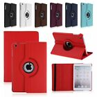 360 Rotating Leather Folio Smart Cover Back Case Stand Sleep/Wake For Apple iPad
