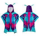Nifty Kids Soft Cotton Hooded Butterfly Poncho Towel Childrens Bath & Beach Wear