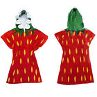 Nifty Kids Soft Cotton Strawberry Hooded Poncho Towel Childrens Bath Beach Wear