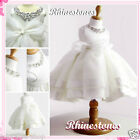 Whites Communion Christening Bridesmaid Flower Girls Dresses SIZE 2,3,4,5,6,7,8Y