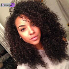 """New 12""""-22"""" Brazilian Kinky Curly 100% Remy Human Hair Full Wigs Lace Front Wigs"""
