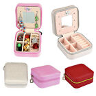 Portable Jewelry Organizer Display Travel Ring Earring Necklace Zipper Case Box