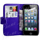 PU Leather Wallet Magnetic Book Flip Phone For Apple iPhone 4 Case 4S Case