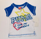 Puma Toddler Girls T-Shirt I Love My Sneakers Size 2T NWT