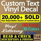 CUSTOM Vinyl Lettering Decal  Personalized  Window Wall Text  Name Sign Sticker