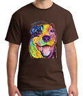 Pit Bull Rescue Adult's T-shirt Pittie Pitbull Tee for Men - 1556C