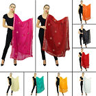 Indian Stole Dupatta Fashion Women Neck wrap Scarf Shawl Chunni Chiffon-NDP753