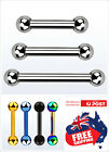 Surgical Steel Barbell Ball 16g 14g Body Piercing Bar Ring Tongue Ear Nipple 1pc