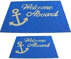 Welcome Aboard Mat With Backing Pvc 2 Sizes