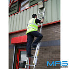 Professional Trade Triple & Double Section Aluminium Extension Ladders Lyte