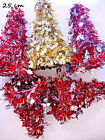 CHRISTMAS TINSEL TREES 25CM or 30CM or 60CM TABLE DECORATIONS VARIOUS DESIGNS