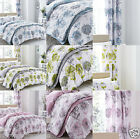 Catherine Lansfield Blue,Green,Pink Banbury Floral Reversible Duvet/Quilt Cover