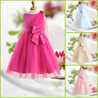 Hot Pink Wedding Party Dresses Bridesmaid Flower Girls Dress AGE SIZE 2 to 10Y