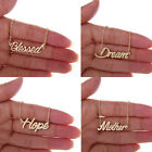 Family Letter Word Name Necklace Live With Faith Dream Necklace For Best Friends