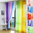 Colorful Floral Tulle Voile Curtain Sheer Valances Scarf Wedding Window screen