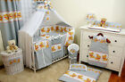 16 part set Baby cot 140x70 + bedding + mattress waterpoof + Rails Protector