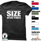 SIZE MATTERS c10 T-Shirt Workout Gym BodyBuilding Weight Lifting Fit Motivation image