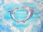 CANVAS Dolphins Painting Gallery Wrapped Art Decor by Ed Capeau
