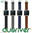 Leather Replacement Wristband Bracelet+Metal Frame For Fitbit Blaze Black Blue