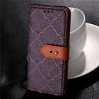 Fashion Magnetic Flip Real Leather  Wallet Stand Cover Skin Case Samsung Galaxy