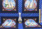 Sailboat Nautical Fabric Joan Messmore Cotton Pillow Panel & Spoon Rest Lot Of 2
