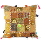 "20"" Brown Decorative Patchwork Sofa Throw Pillow Cover Cushion Indian Bohemian B"