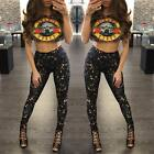 Women Printing Guns N' Roses Tank Crop Top Pants Sets T-Shirts Legglings Bodycon