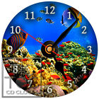S-851 CD CLOCK-TROPICAL FISH CORAL REAF-DESK OR WALL CLOCK-GREAT GIFT