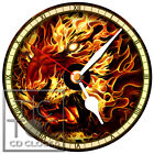 S-846 CD CLOCK-FIRE TIGER-DESK OR WALL CLOCK-GREAT GIFT FOR ANYONE