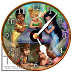 T-145 CD CLOCK-TINKERBELL AND FRIENDS-CHIDRENS CLOCK-FAST FREE SHIPPING