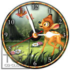 S-934 CD CLOCK-BAMBI-DESK OR WALL CLOCK-FAST FREE SHIPPING-BUY IT KNOW