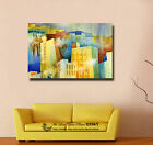 Hometown Under Sunshine Stretched Canvas Print Framed Wall Art Decor Painting