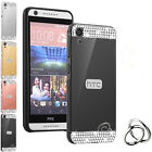 Top Holiday Gifts Crystal Mirror Back Cover + Metal Aluminum Frame Case For HTC Desire phone model