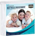 Zippered Mattress Encasement Waterproof Mattress Protector Utopia Bedding image