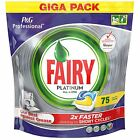 FAIRY Platinum All In One Lemon Dishwasher 75 Tablets Detergent Capsules Tabs