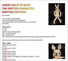 HARRY HILL KNITTED CHARACTER & PG TIPS MONKEY KNITTING PATTERNS