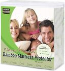 Mattress Pads Feather Beds - Mattress Protector Waterproof Bamboo Soft Hypoallergenic Fitted Mattress Cover