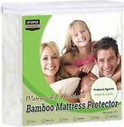 Mattress Protector Waterproof Bamboo Soft Hypoallergenic Fitted Pad Cover image