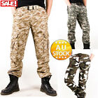 Men's Cargo Pants Longs Trousers Casual Military CAMO Combat Army