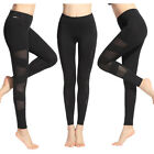 Women Mesh Splice Yoga Gym Running Sports Pants Stretch Active Fitness Leggings